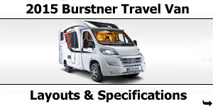 2015 Season Burstner Travel Van Specifications & Prices