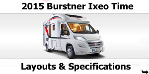 2015 Season Burstner Ixeo Time Specifications & Prices