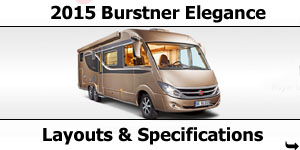2015 Season Burstner Elegance Specifications & Prices