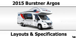 2015 Season Burstner Argos Specifications & Prices