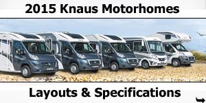 2015 Season Knaus Motorhomes Specifications & Prices