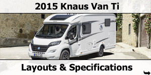2015 Season Knaus Van Ti Motorhomes Specifications & Prices