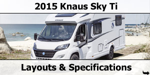 2015 Season Knaus Sky Ti Motorhomes Specifications & Prices