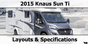 2015 Season Knaus Sun Ti Motorhomes Specifications & Prices