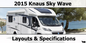 2015 Season Knaus Sky Wave Motorhomes Specifications & Prices