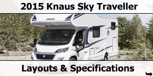 2015 Season Knaus Sky Traveller Motorhomes Specifications & Prices