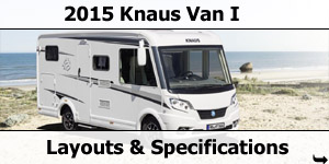 2015 Season Knaus Van I Motorhomes Specifications & Prices