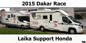 Laika Support Honda at 2015 Dakar