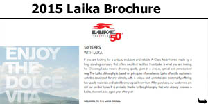2015 Laika Motorhome Brochure Download