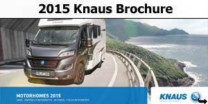 2015 Knaus Motorhome Brochure Download