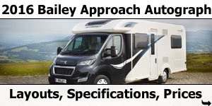2016 Bailey Approach Autograph Motorhomes