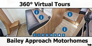 2016 Bailey Approach Motorhomes 360 Degree Virtual Tours
