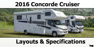 2016 Concorde Cruiser Motorhomes Layouts