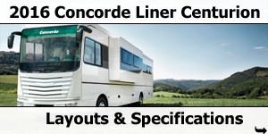 2016 Concorde Liner Centurion Motorhomes Layouts