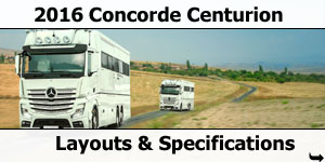 2016 Concorde Centurion Motorhomes Layouts