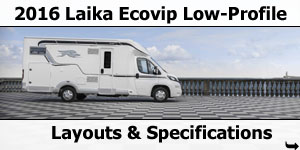 2016 Laika Ecovip Low-Profile Motorhomes Layouts