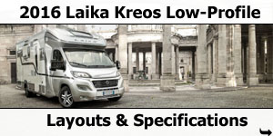 2016 Laika Kreos Low-Profile Motorhomes Layouts