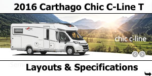 2016 Carthago Chic C-Line T Motorhomes Layouts