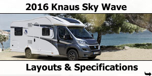 2016 Knaus Sky Wave Motorhomes Layouts