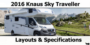 2016 Knaus Sky Traveller Motorhomes Layouts