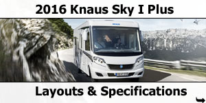 2016 Knaus Sky I Plus Motorhomes Layouts
