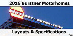 2016 Burstner Motorhomes For Sale