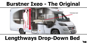 2016 Burstner Ixeo with Lengthways-Drop-Down Bed