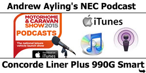 Radio Podcast Interview on Concorde Liner Plus 900G Motorhome