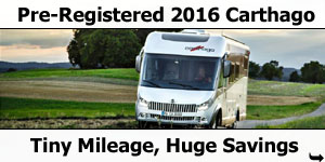 Pre-Registered 2016 Carthago Motorhomes Special Offer