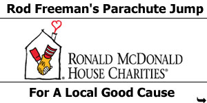 Rod Freeman's Parachute Jump For Ronald McDonald House Carities
