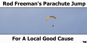Rod Freeman's Parachute Jump For Ronald McDonald House Charity