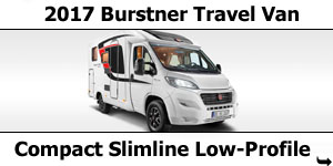 2017 Burstner Travel Van Low-Profile Motorhomes
