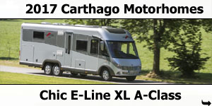 2017 Carthago Chic E-Line XL A-Class Motorhomes For Sale