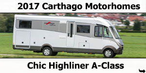 2017 Carthago Chic Highliner A-Class Motorhomes For Sale