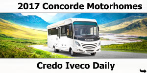 2017 Concorde Credo Iveco Daily A-Class Motorhomes