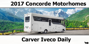 2017 Concorde Carver Iveco Daily A-Class Motorhomes