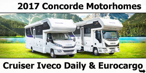 2017 Concorde Cruiser Iveco Daily & Eurocargo Coachbuilt Motorhomes Layouts