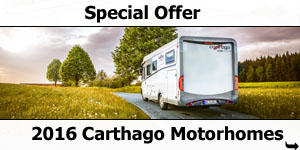 Special Offer: 2016 Carthago A-Class Motorhomes