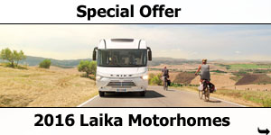 Special Offer: 2016 Laika A-Class Motorhomes