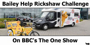 Bailey Motorhome Helps The One Shows Rickshaw Challenge