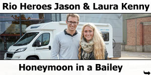 Olympians Jason & Laura Kenny Honeymoon in a Bailey Motorhome