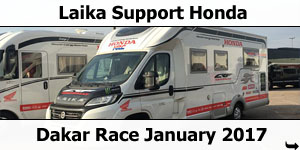 Laika Support Honda at Dakar Race