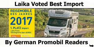 Laika Voted Best Import By German Promobil Magazine Readers