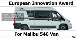 Malibu 540 Van Wins European Innovation Award
