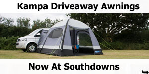 Kampa Driveaway Awnings Now at Southdowns