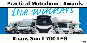 Knaus Sun I 700 LEG Best Luxury Motorhome Award from Practical Motorhome