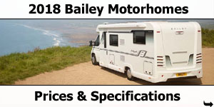 2018 Bailey Motorhome Prices and Specifications