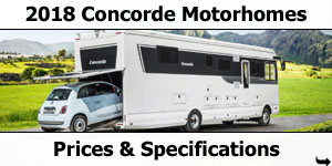 2018 Concorde Motorhome Prices and Specifications