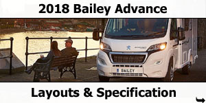 2018 Bailey Approach Advance Motorhomes Models & Layouts