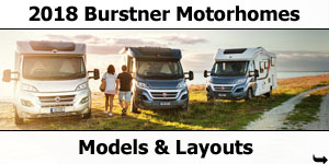 2018 Burstner Motorhomes Models and Layouts Motorhomes